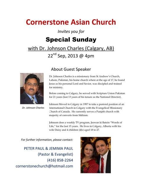 Cornerstone Asian Church (FLYER)