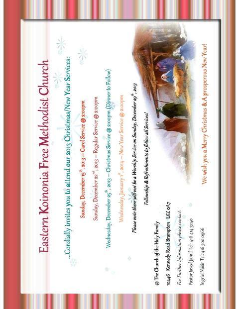 Eastern Koinonia Free Methodi...mas 2013 Service Schedule.pdf