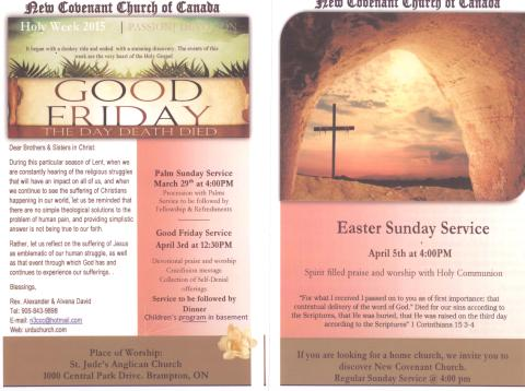 Good Friday Easter Flyer 2015