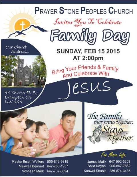 PRAYER STONE CHURCH Family Day 2015