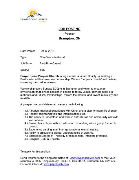 PSPC_Job Description