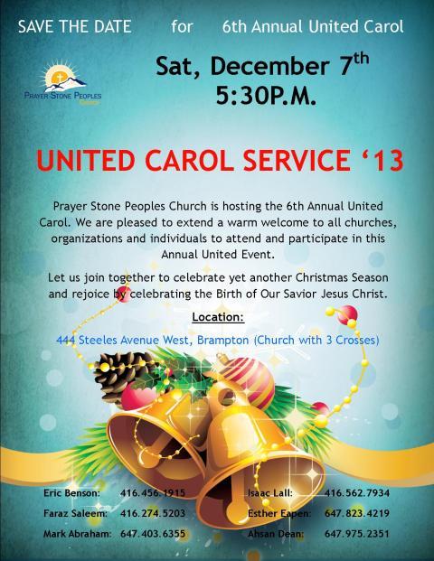 PSPC_United Carol Service_Sat, Dec 7th_2013