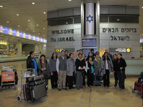 Arrival at Ben Gurion 22 Feb.2012