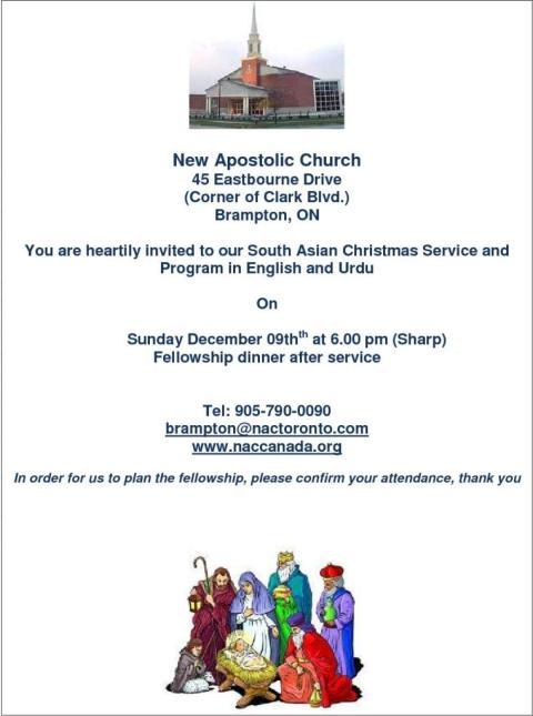 New Apostolic Church Dec. 09, 2012- Christmas