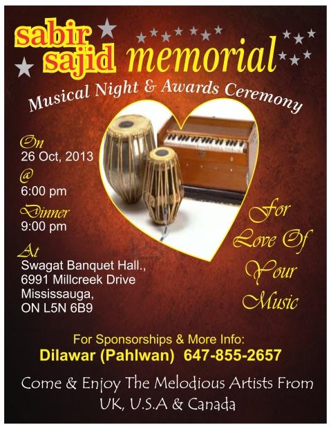 Sabir Sajid Memorial Musical Night 2013
